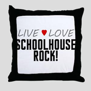 Live Love Schoolhouse Rock! Throw Pillow
