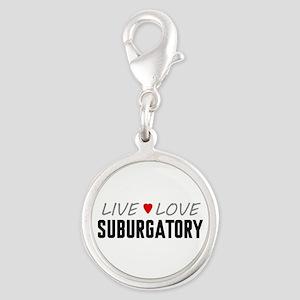 Live Love Suburgatory Silver Round Charm