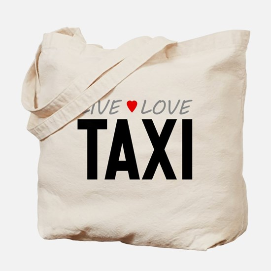 Live Love Taxi Tote Bag