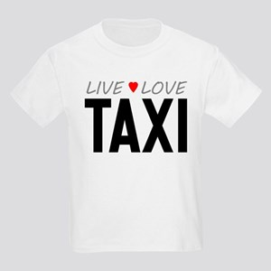 Live Love Taxi Kids Light T-Shirt