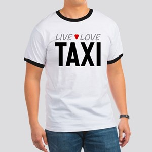 Live Love Taxi Ringer T-Shirt