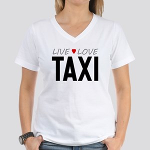 Live Love Taxi Women's V-Neck T-Shirt