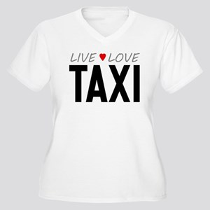 Live Love Taxi Women's Plus Size V-Neck T-Shirt