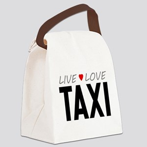 Live Love Taxi Canvas Lunch Bag