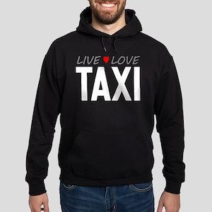 Live Love Taxi Dark Hoodie