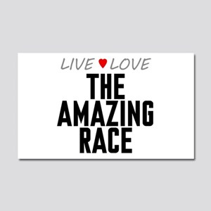 Live Love The Amazing Race Car Magnet 20 x 12