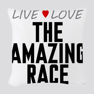 Live Love The Amazing Race Woven Throw Pillow