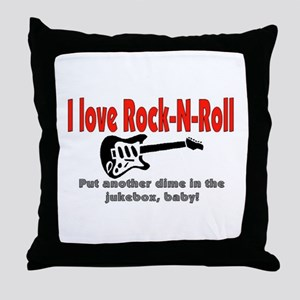 I LOVE ROCK-N-ROLL Throw Pillow
