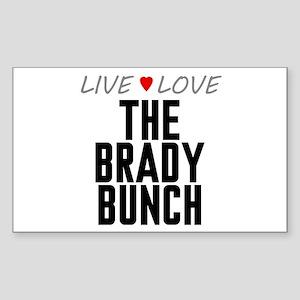 Live Love The Brady Bunch Rectangle Sticker
