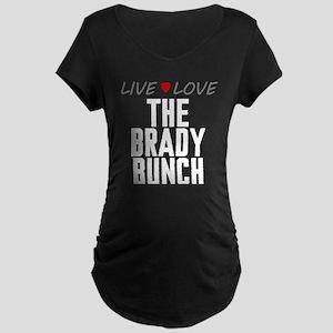 Live Love The Brady Bunch Dark Maternity T-Shirt