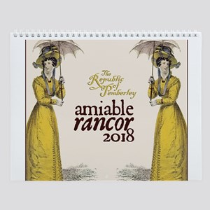 Amiable Rancor Calendar 2018 Wall Calendar