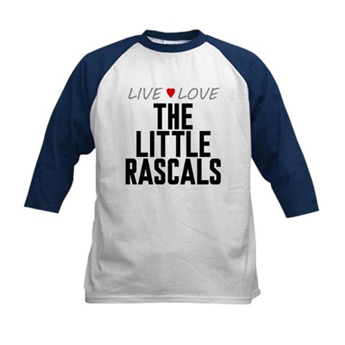 Live Love The Little Rascals Kids Baseball Jersey