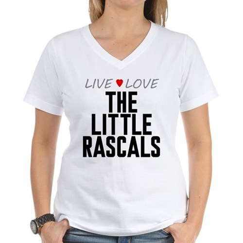 Live Love The Little Rascals Women's V-Neck T-Shir