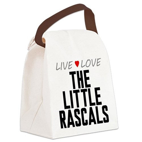 Live Love The Little Rascals Canvas Lunch Bag