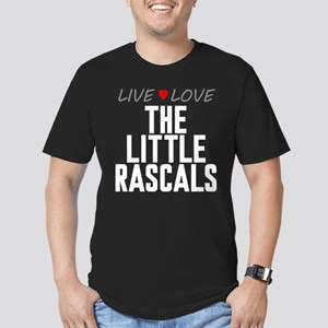 Live Love The Little Rascals Men's Dark Fitted T-S
