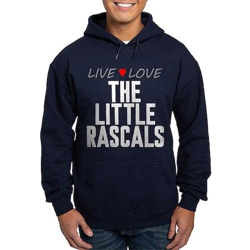 Live Love The Little Rascals Dark Hoodie
