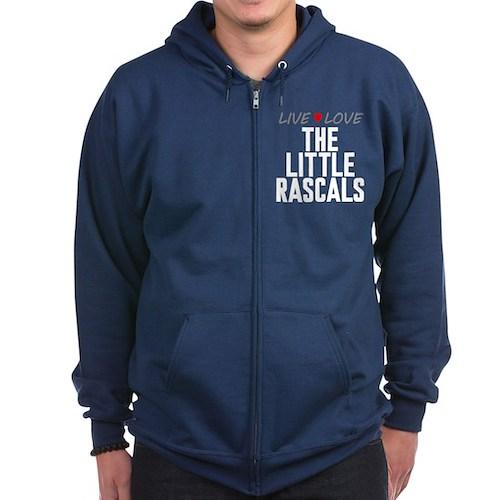 Live Love The Little Rascals Dark Zip Hoodie