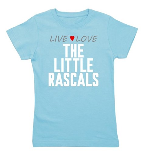Live Love The Little Rascals Girl's Dark Tee