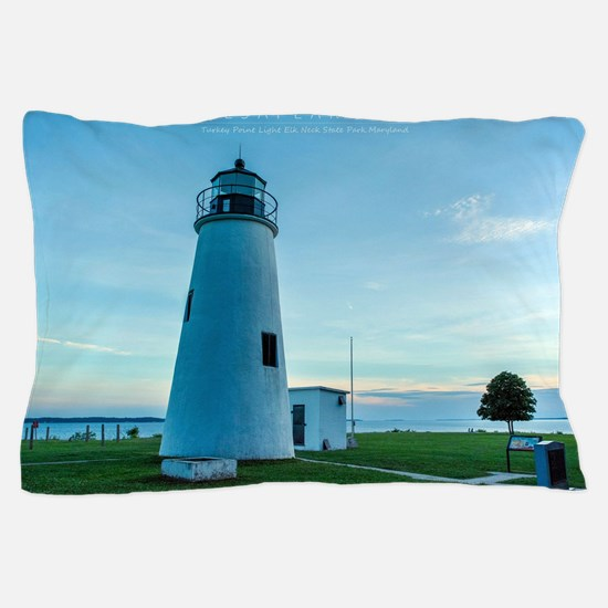 Turkey Point Light Maryland. Pillow Case