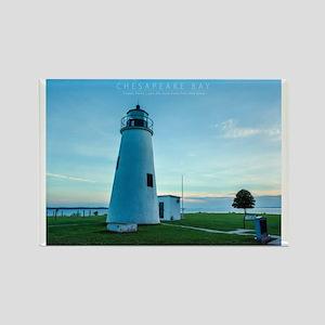 Turkey Point Light Maryland. Rectangle Magnet