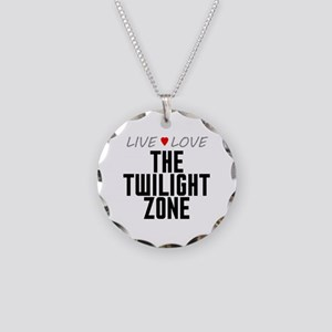 Live Love The Twilight Zone Necklace Circle Charm