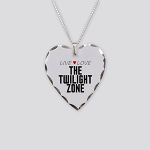 Live Love The Twilight Zone Necklace Heart Charm