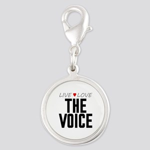 Live Love The Voice Silver Round Charm