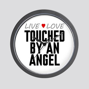 Live Love Touched by an Angel Wall Clock