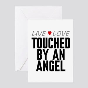 Live Love Touched by an Angel Greeting Card