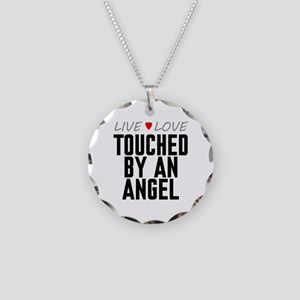 Live Love Touched by an Angel Necklace Circle Char