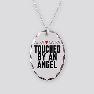 Live Love Touched by an Angel Necklace Oval Charm