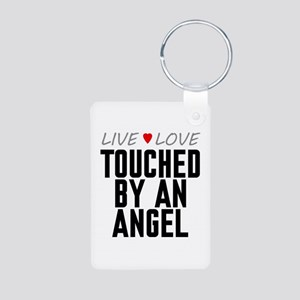 Live Love Touched by an Angel Aluminum Photo Keych