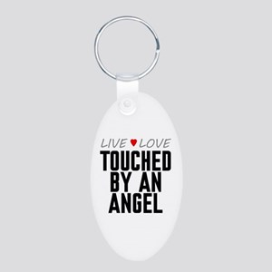Live Love Touched by an Angel Aluminum Oval Keycha