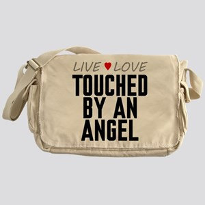 Live Love Touched by an Angel Canvas Messenger Bag