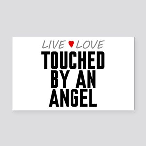 Live Love Touched by an Angel Rectangle Car Magnet