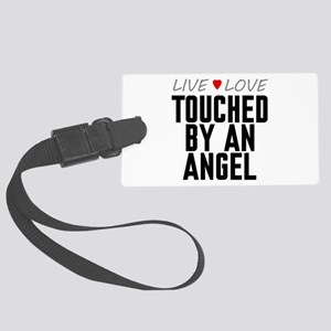 Live Love Touched by an Angel Large Luggage Tag