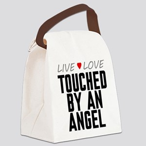 Live Love Touched by an Angel Canvas Lunch Bag