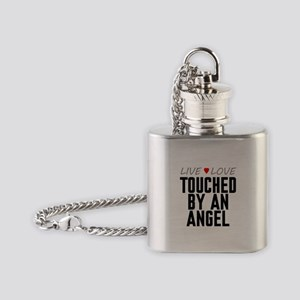 Live Love Touched by an Angel Flask Necklace