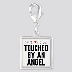 Live Love Touched by an Angel Silver Square Charm