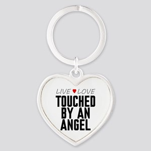 Live Love Touched by an Angel Heart Keychain