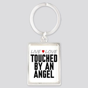Live Love Touched by an Angel Portrait Keychain
