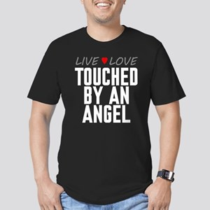 Live Love Touched by an Angel Men's Dark Fitted T-