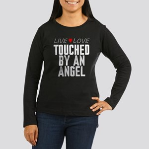 Live Love Touched by an Angel Women's Dark Long Sl