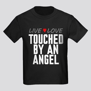 Live Love Touched by an Angel Kids Dark T-Shirt
