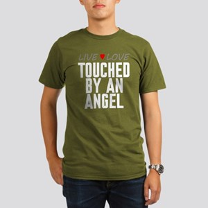 Live Love Touched by an Angel Organic Men's Dark T
