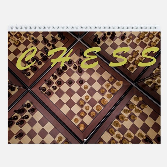 Famous Games And Openings Chess Wall Calendar