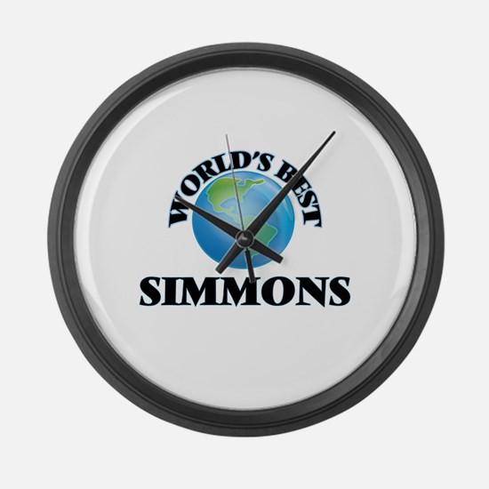 World's Best Simmons Large Wall Clock