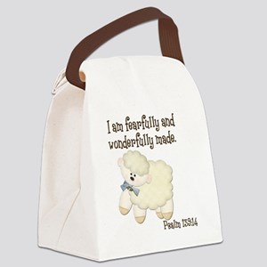 Wonderfully Made Sheep Canvas Lunch Bag