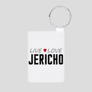 Live Love Jericho Aluminum Photo Keychain