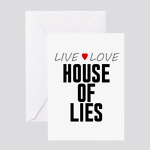 Live Love House of Lies Greeting Card